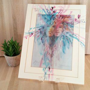 Other - Soulmates Artwork Print by Carolyn Utigard Thomas